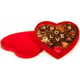 Boite Chocolat en Coeur de velours