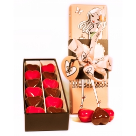 Customisable praline heart