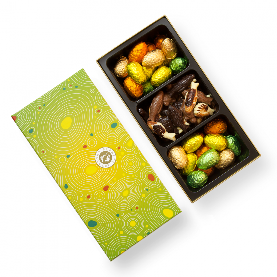 Free chocolate gift delivery to denmark plante chocolat box of colorful easter eggs negle Images