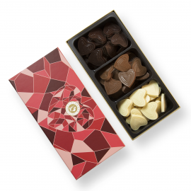 Mixed chocolate hearts