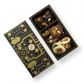Box mixed chocolate mendiants