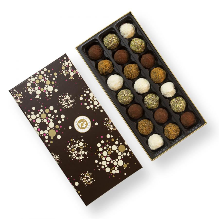 truffels van ambachtelijke belgische chocolade met intense smaken. Black Bedroom Furniture Sets. Home Design Ideas