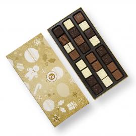Doosje chocolade voor Kerstmis