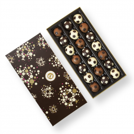 Box with chocolate balls