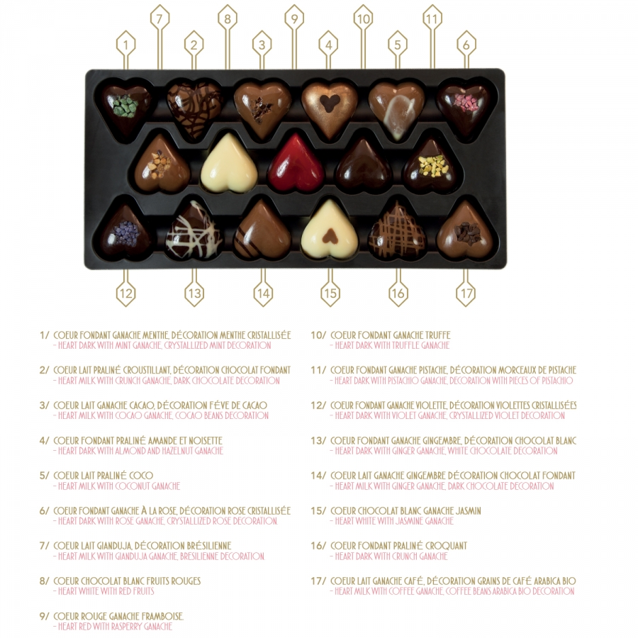 Luxurious Heart Shaped Chocolate Box Created For Lovers 590g