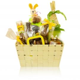 Mandje chocolade voor Pasen