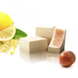 Weiße Haselnusspraline mit kandierten Zitronen (ref. 29)