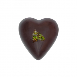 Heart dark with mint ganache