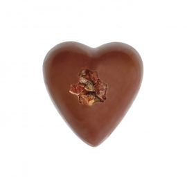 Heart milk with cocoa ganache