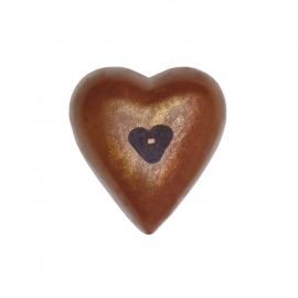 Heart dark with almond and hazelnut ganache