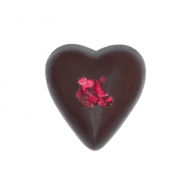 Heart dark with rose ganache