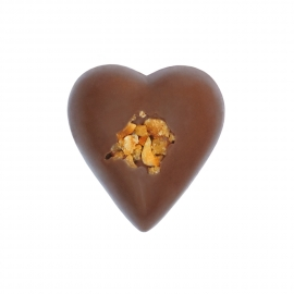 Heart milk with gianduja ganache