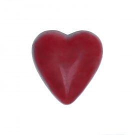 Red heart with rasperry ganache