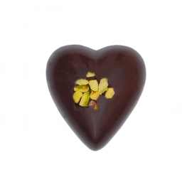 Heart dark with pistachio ganache