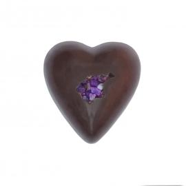 Coeur fondant ganache violette