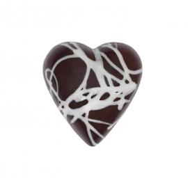 Corazón fundido con ganache de jengibre