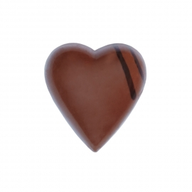 Heart milk with ginger ganache