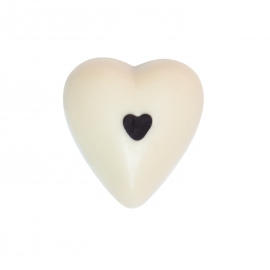 White chocolate heart with jasmin ganache
