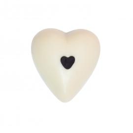White chocolate heart with jasmin ganache