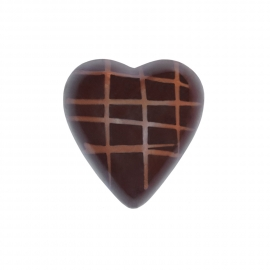 Heart dark with crunch ganache