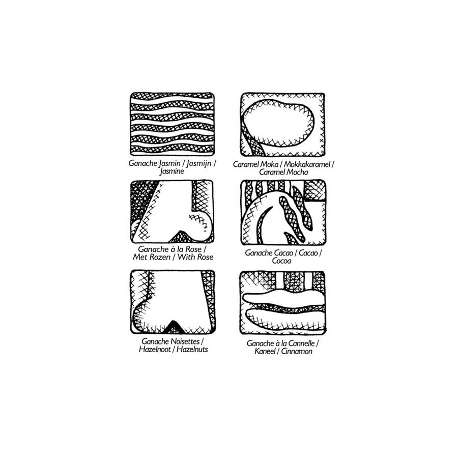 pralinenschachtel plan te chocolat 6 ausgew hlte. Black Bedroom Furniture Sets. Home Design Ideas