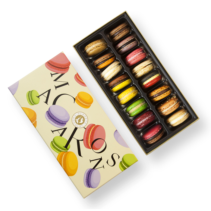 Box macarons as gift