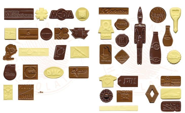 Some references customisable chocolates