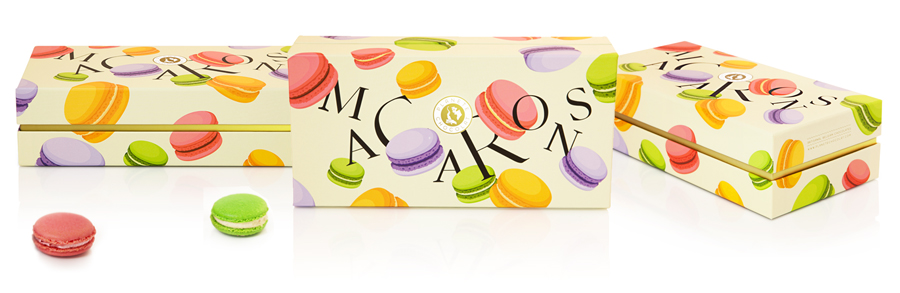 Box macarons