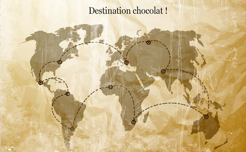 Voyage destination chocolat