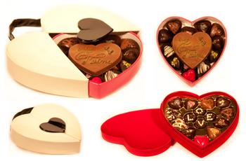 Schokoladenbox in Herzform