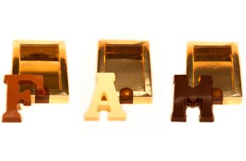Buchstabe aus Schokolade