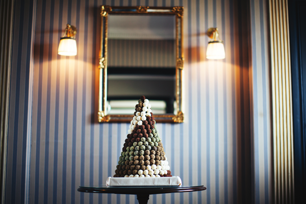 Pyramid of artisanal truffles at the Warwick Barsey Hotel