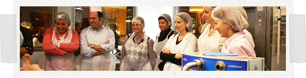 During the workshop, participants will be able to dress like real chocolatiers.