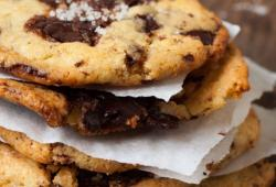 Recipe chocolate chip cookies with sea salt