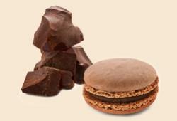 September's chocolate macaron